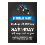 Boys Kids Racing Monster Truck Cars Birthday 5x7 Paper Invitation Card
