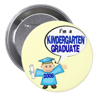 Boys Kindergarten Graduate / Graduation Button
