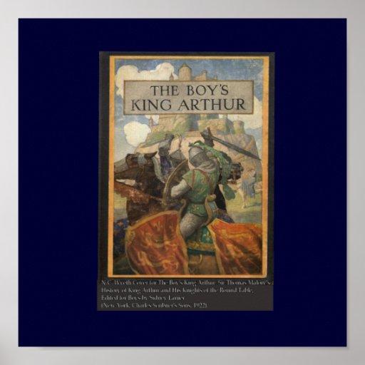 Boys King Arthur Book Cover Poster