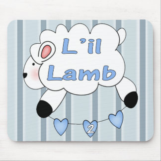 Boys Lamb 2nd Birthday Gifts Mouse Pad