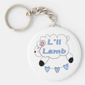 Boys Lamb 5th Birthday Gifts Basic Round Button Keychain