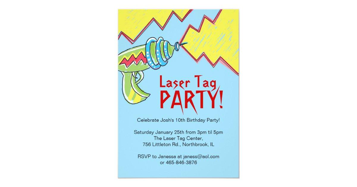 Boys Laser Tag Party Invitations | Zazzle.com