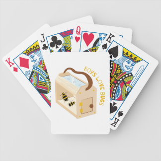 Boys Love Bugs Bicycle Playing Cards