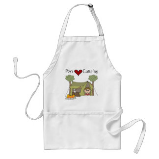 Boys Love Camping Adult Apron