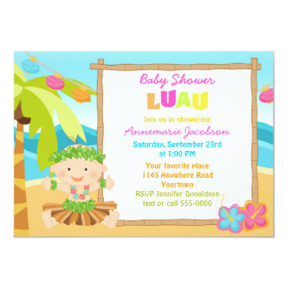 Boys Lua Baby Shower Card