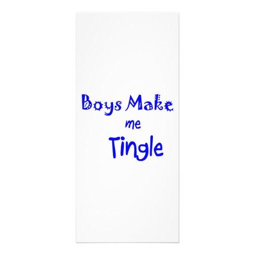boys make me tingle full color rack card