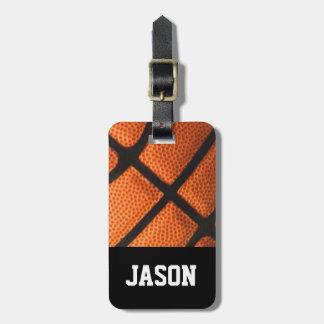 Boys Masculine Basketball Custom Luggage TAG