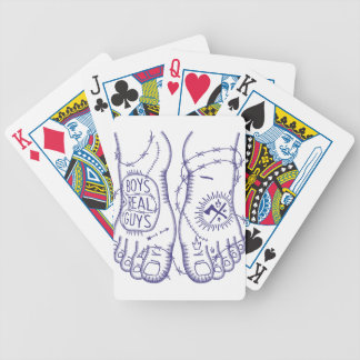 Boys material Guys Bicycle Playing Cards