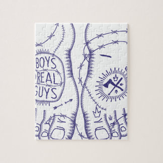 Boys material Guys Jigsaw Puzzle