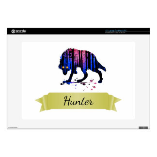 """Boys Mens Personalized Trendy Wolf Woods Galaxy 15"""" Laptop Decal"""