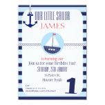 Boys Nautical 1st Birthday party Invitation 11 Cm X 16 Cm Invitation Card