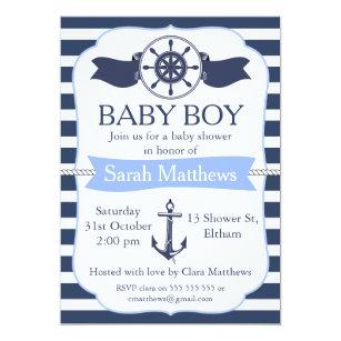 Nautical baby shower invitations zazzle boys nautical baby shower invitation filmwisefo
