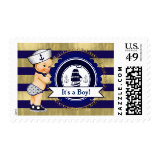 Boys Nautical Baby Shower Postage Stamps