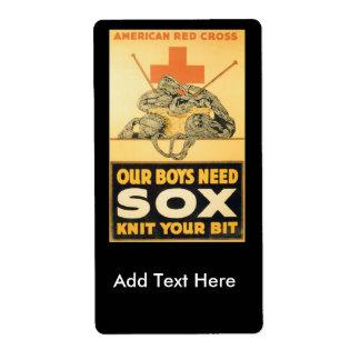 Boys Need Sox World War II Label