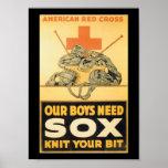 Boys Need Sox World War II Poster