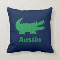 Boys Nursery Room Decor Alligator Throw Pillow