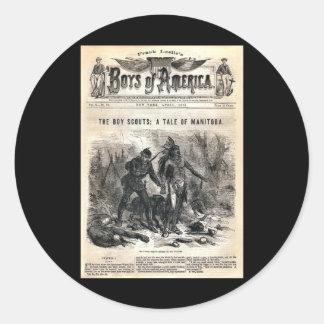 Boys of America Vol X. No. 56, 1878 Round Sticker