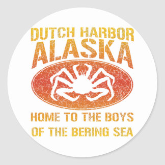 Boys of the Bering Sea! Round Stickers