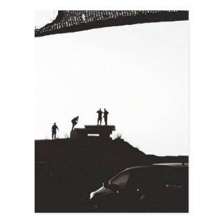 Boys on the hill postcard