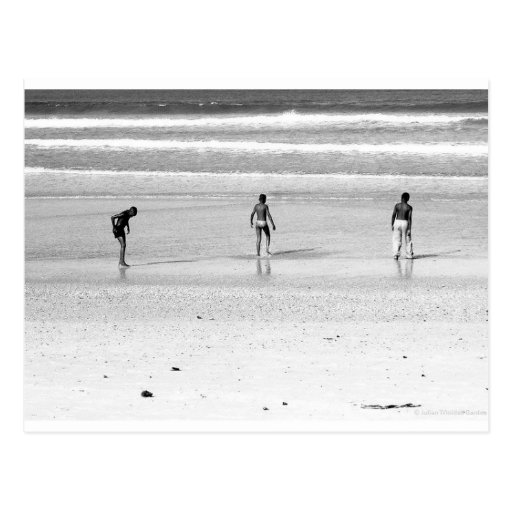 """Boys on the South African Beach"" JTG Art Postcard"