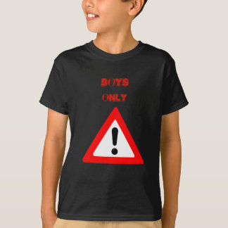 Boys only shirt