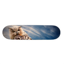 Boy's Owl Skateboard