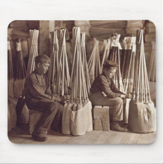 Boys Packing Brooms, 1908 Mouse Pad