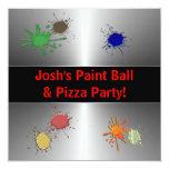Boys Paint Ball Party Custom Announcement