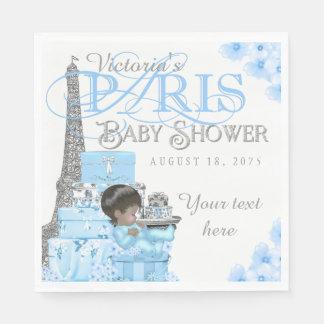Boys Paris Baby Shower Napkins
