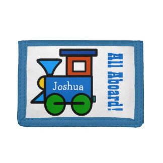 Boys Personalized Choo Choo Train Wallet