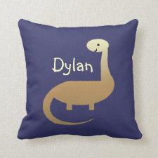 Boys Personalized Dinosaur Throw Pillow