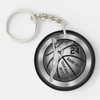 Boys Personalized Gifts for Basketball Players Keychain