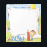 "Boy's Personalized Mitzvah Notepad<br><div class=""desc"">GET THE YEAR STARTED OFF RIGHT WITH A NEW ADORABLE MITZVAH NOTEPAD!   These mitzvah notes are just too cute. Your little boy will be super motivated to do   lots of mitzvos and complete the whole notepad! You can also order them with a Hebrew name.</div>"