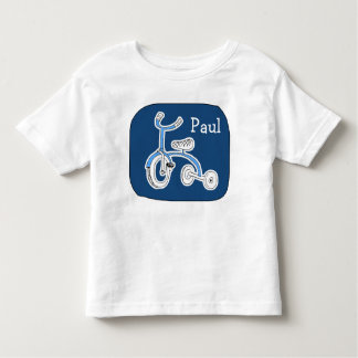 Boys Personalized Tricycle Drawing Bike T-Shirt