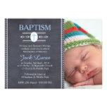 boys chalkboard baptism photo invitation,,