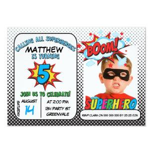 boys 5th birthday invitations zazzle