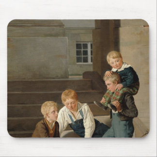 Boys Playing Dice in Front of Christiansborg Mouse Pad