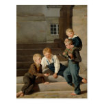 Boys Playing Dice in Front of Christiansborg Postcards