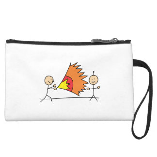Boys Playing Fighting Effects Fun Games Wristlet Purses