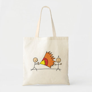 Boys Playing Fighting Effects Fun Games Budget Tote Bag