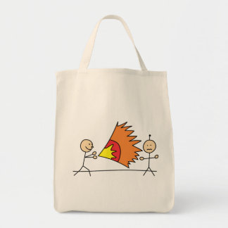 Boys Playing Fighting Effects Fun Games Grocery Tote Bag