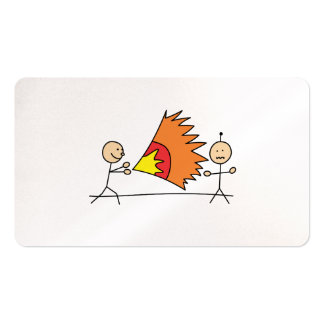 Boys Playing Fighting Effects Fun Games Business Card