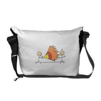 Boys Playing Fighting Effects Fun Games Messenger Bags