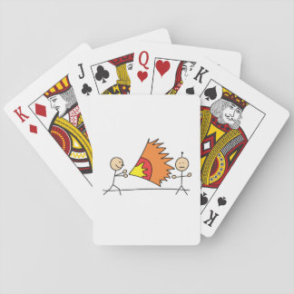 Boys Playing Fighting Effects Fun Games Poker Cards