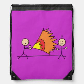 Boys Playing Fighting Effects Fun Games Cinch Bag