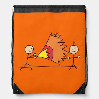 Boys Playing Fighting Effects Fun Games Cinch Bags