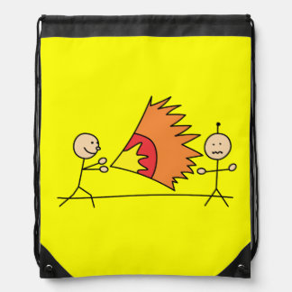 Boys Playing Fighting Effects Fun Games Drawstring Bags