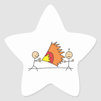 Boys Playing Fighting Effects Fun Games Star Sticker