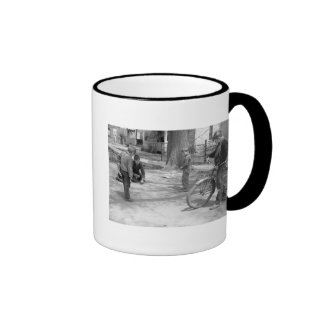 Boys Playing Marbles, Woodbine, Iowa, 1940 Ringer Coffee Mug