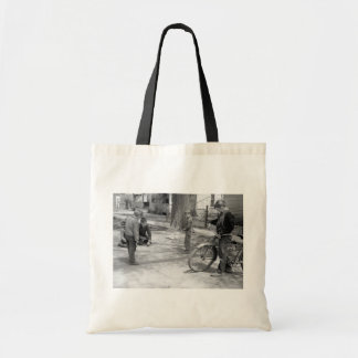 Boys Playing Marbles, Woodbine, Iowa, 1940 Tote Bag
